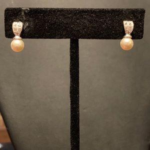 Faux pearl and rhinestone earrings. 2/$8 Sale